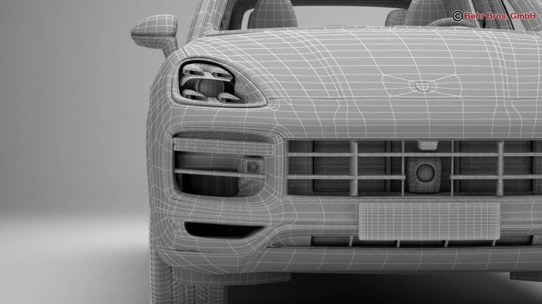 porsche cayenne turbo 2018 3d model 3ds max fbx c4d lwo ma mb obj 296114