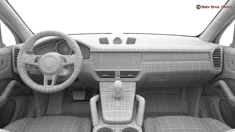 porsche cayenne turbo 2018 3d model 3ds max fbx c4d lwo ma mb obj 296120