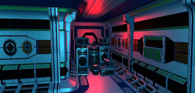 incubator sci fi scene in 3d