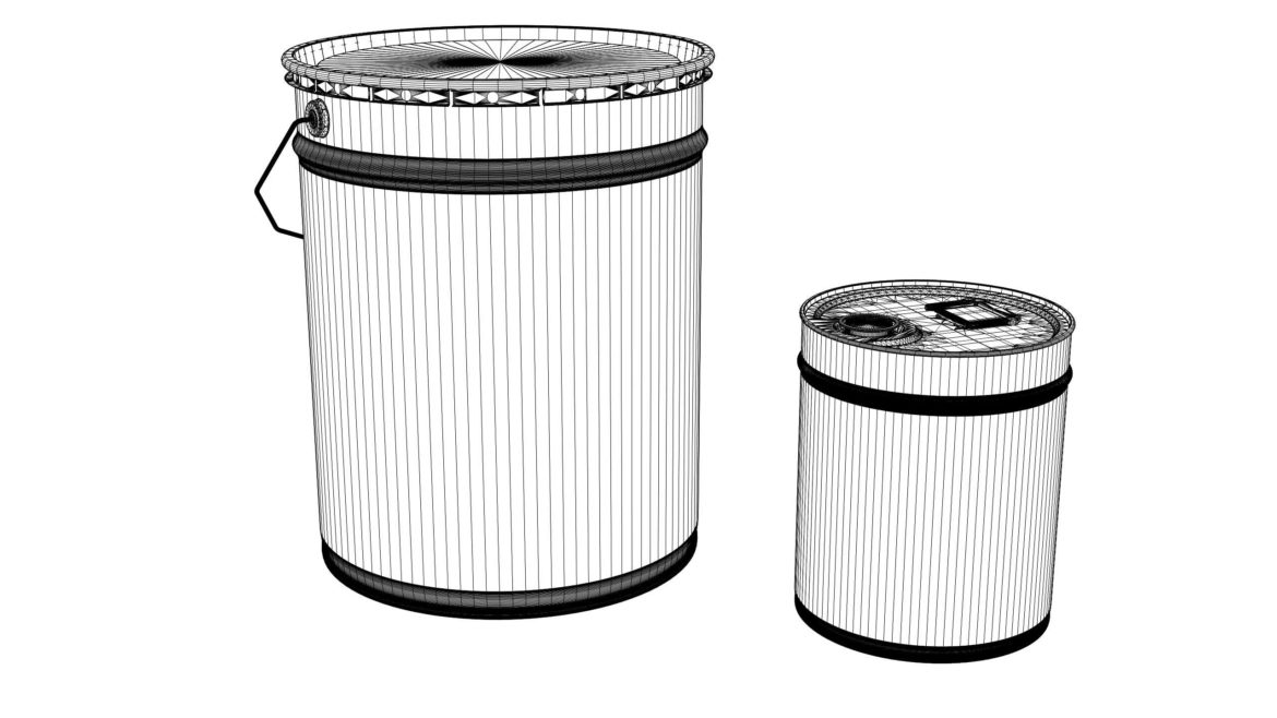 paint cans 3d model max fbx psd obj 296299