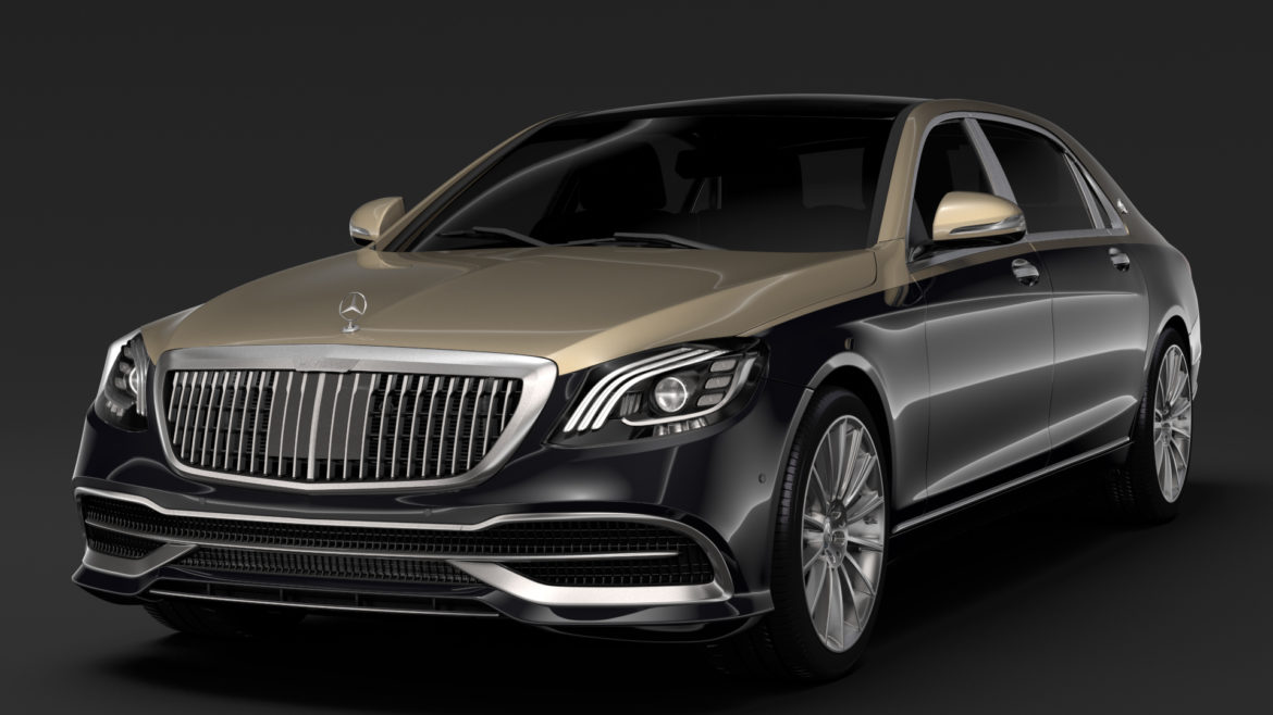 mercedes maybach s 560 x222 2019 3d model 3ds max fbx c4d lwo ma mb hrc xsi obj 296314