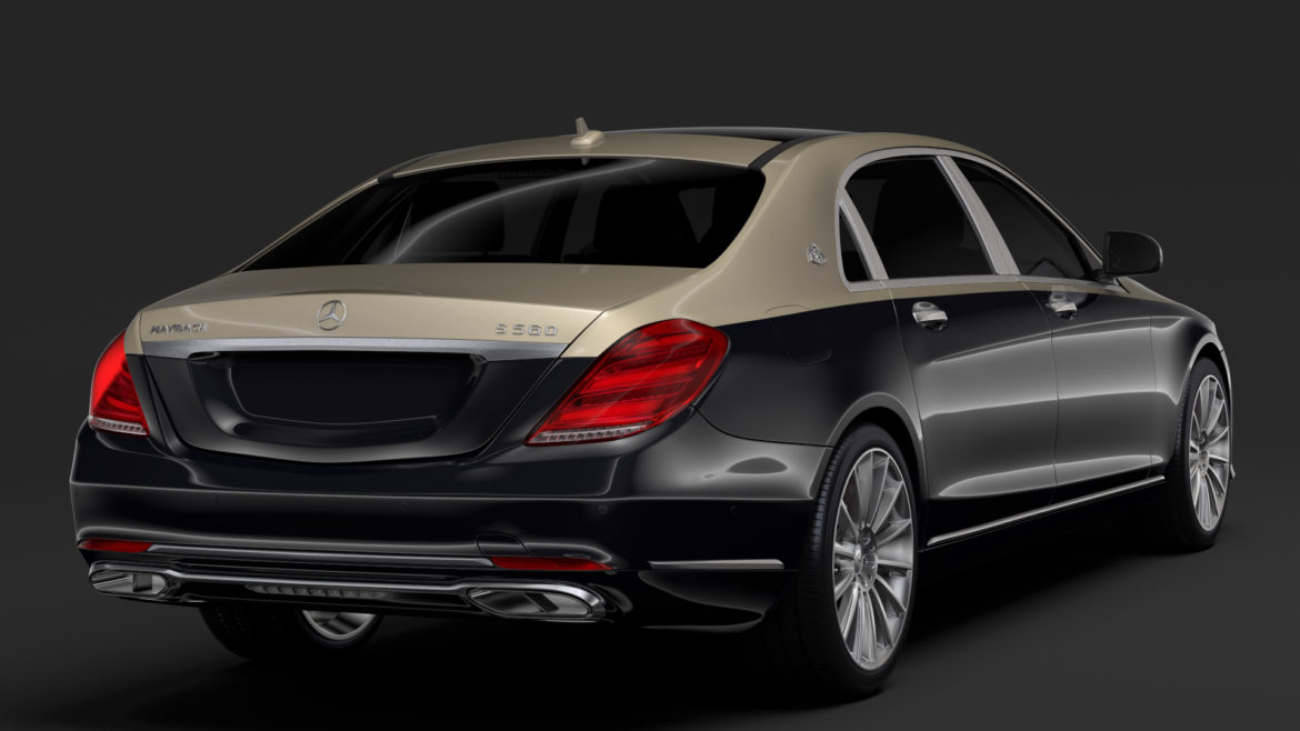 mercedes maybach s 560 x222 2019 3d model 3ds max fbx c4d lwo ma mb hrc xsi obj 296319