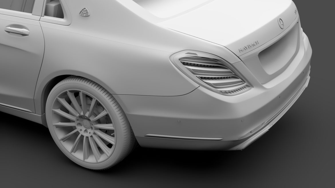 mercedes maybach s 560 x222 2019 3d model 3ds max fbx c4d lwo ma mb hrc xsi obj 296328