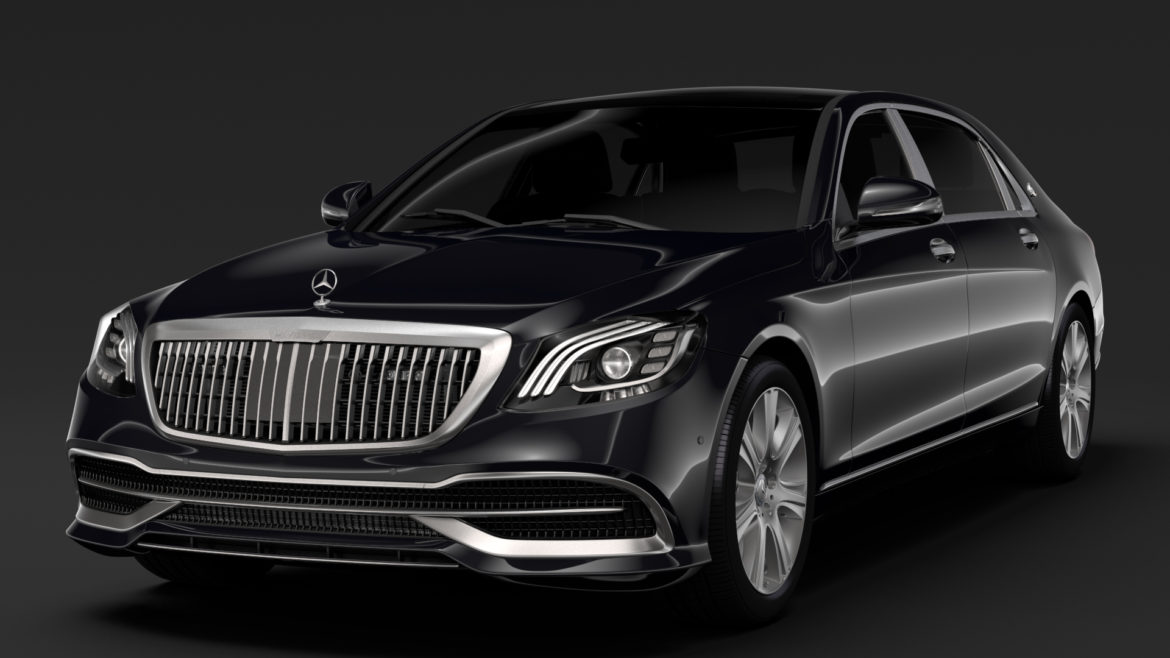 mercedes maybach s 650 guard x222 2019 3d model 3ds max fbx c4d lwo ma mb hrc xsi obj 296345