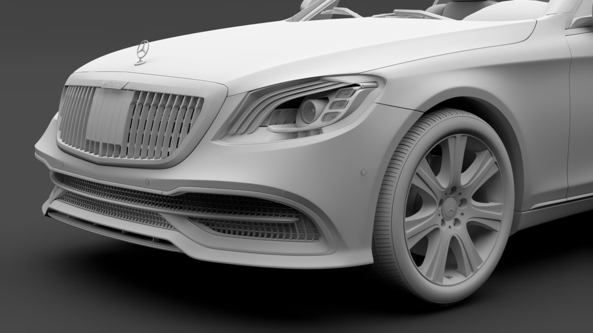 mercedes maybach s 650 guard x222 2019 3d model 3ds max fbx c4d lwo ma mb hrc xsi obj 296356