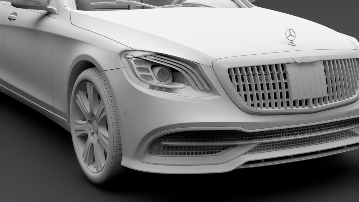 mercedes maybach s 650 guard x222 2019 3d model 3ds max fbx c4d lwo ma mb hrc xsi obj 296357