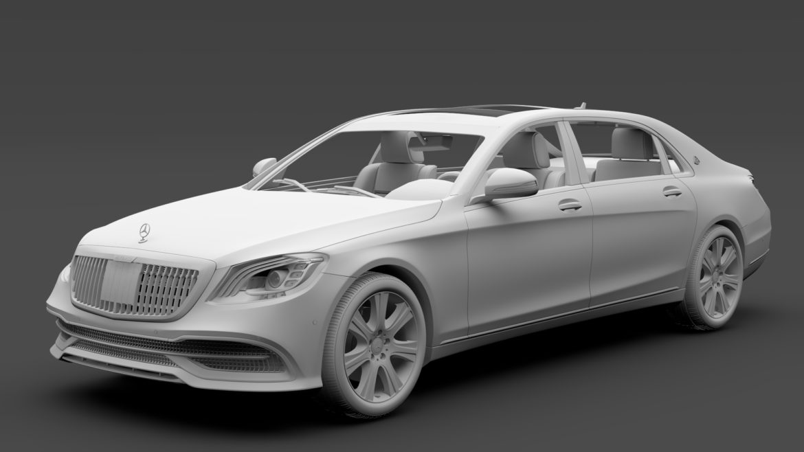 mercedes maybach s 650 guard x222 2019 3d model 3ds max fbx c4d lwo ma mb hrc xsi obj 296358
