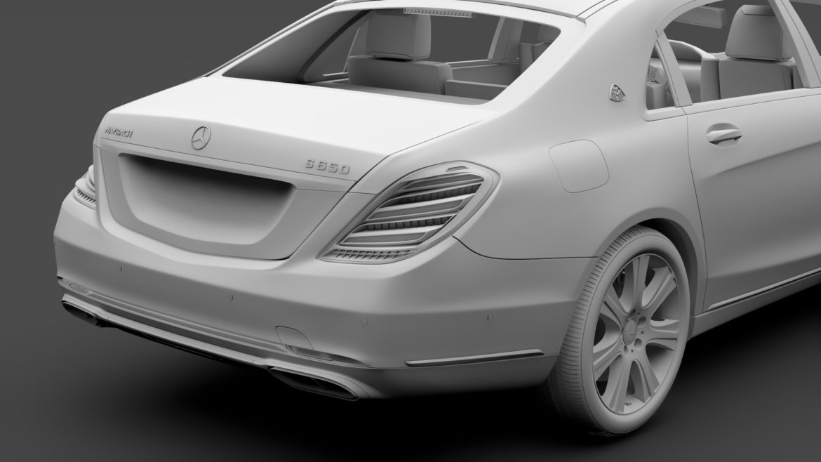 mercedes maybach s 650 guard x222 2019 3d model 3ds max fbx c4d lwo ma mb hrc xsi obj 296360