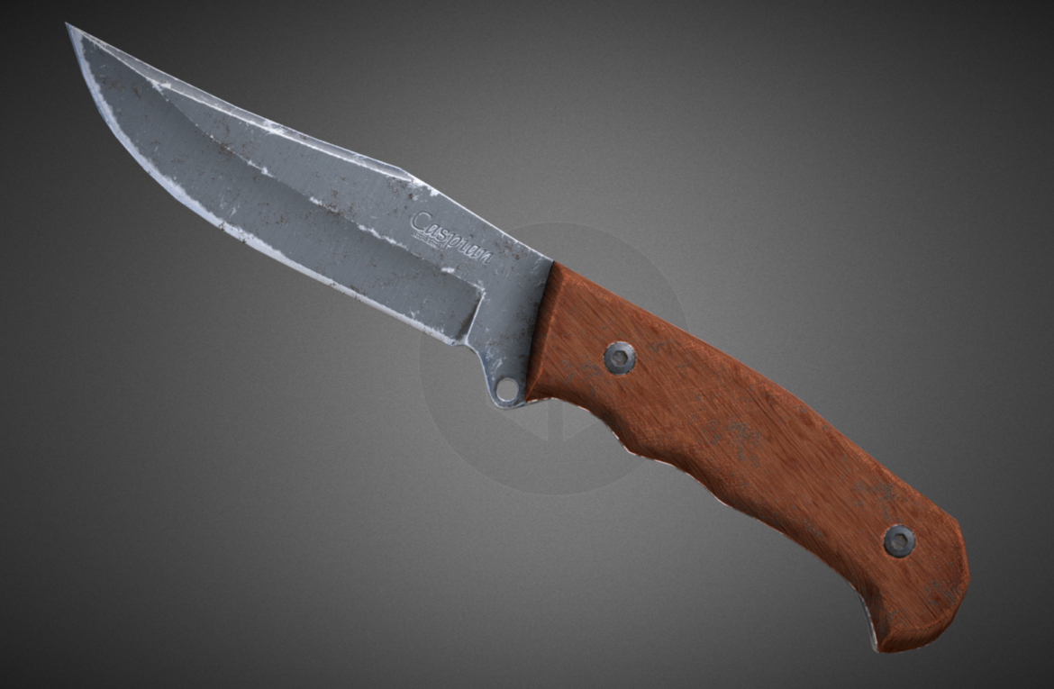 caspian knife 3d model 3ds fbx blend obj 296410