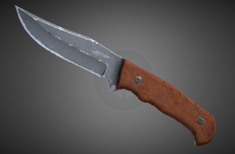kaspijski nož 3d model 3ds fbx mješavina obj 296410