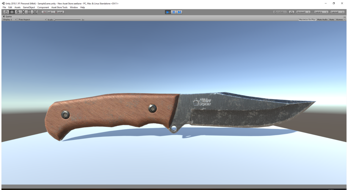 caspian knife 3d model 3ds fbx blend obj 296411
