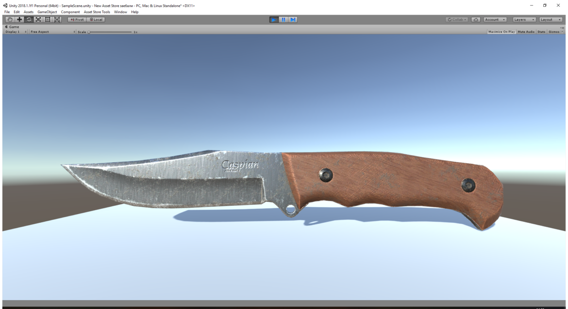 caspian knife 3d model 3ds fbx blend obj 296412