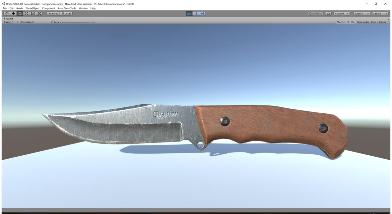 kaspijski nož 3d model 3ds fbx mješavina obj 296412