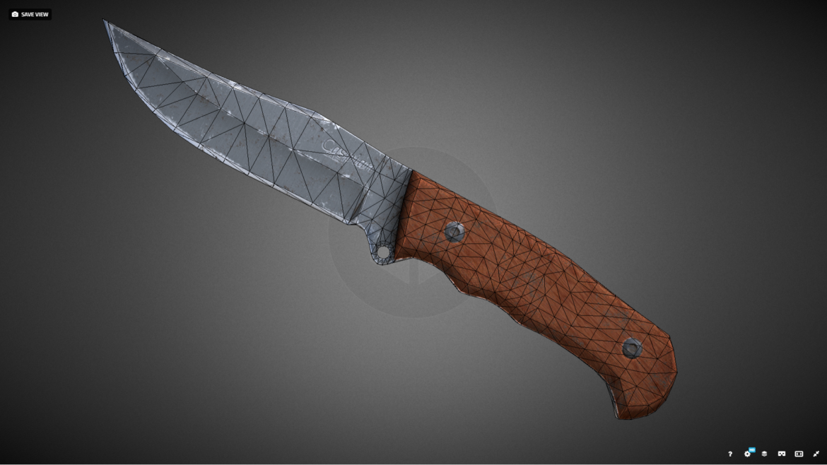caspian knife 3d model 3ds fbx blend obj 296413