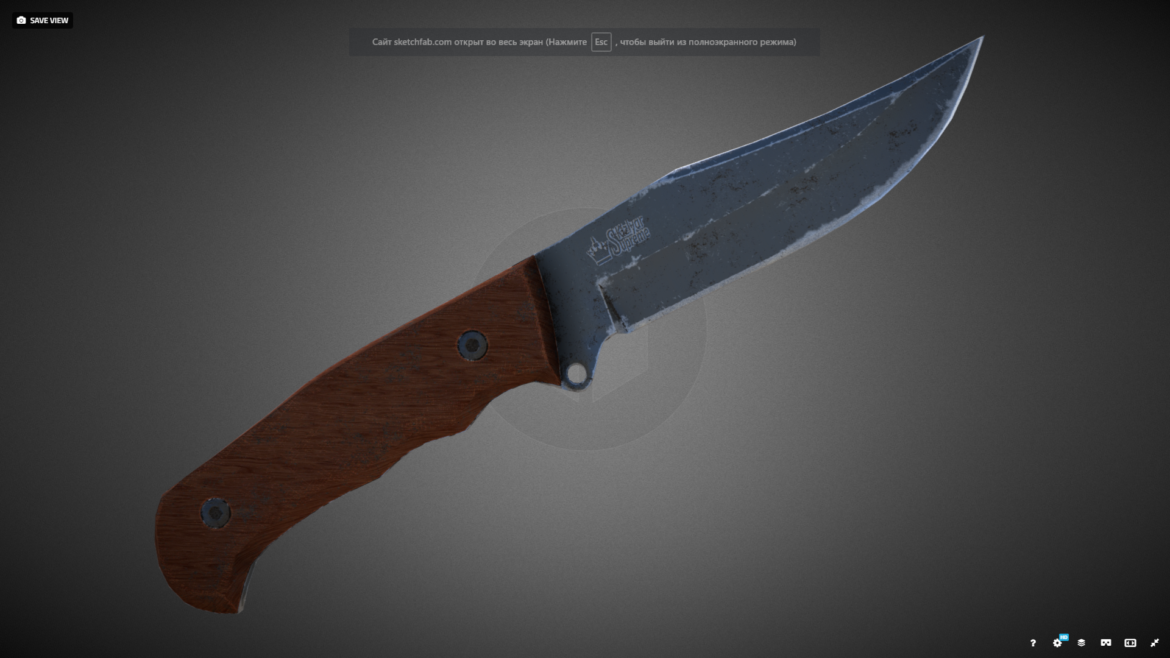 caspian knife 3d model 3ds fbx blend obj 296414