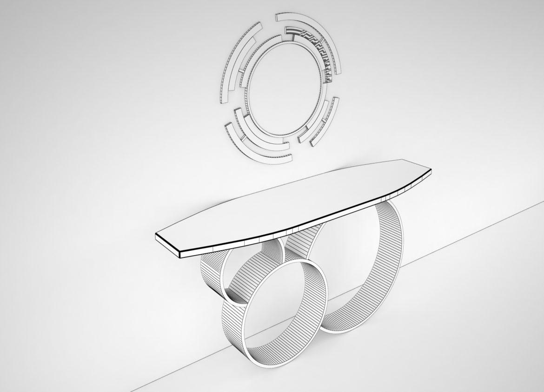 table mirror 1 jafari 3d model obj max 296468