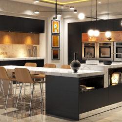 modern kitchen 3d model 3ds max obj 296484