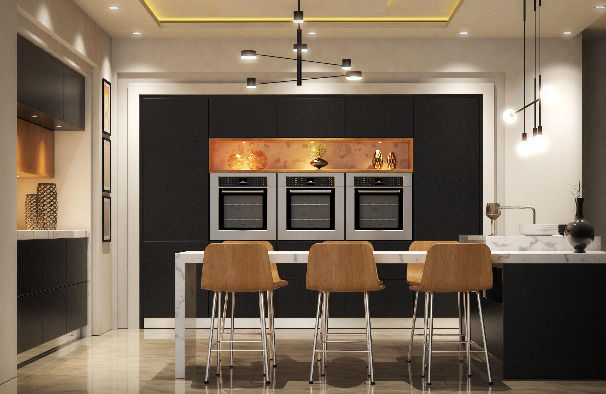Modern Kitchen 3D Model - FlatPyramid on Modern Model Kitchen  id=37876