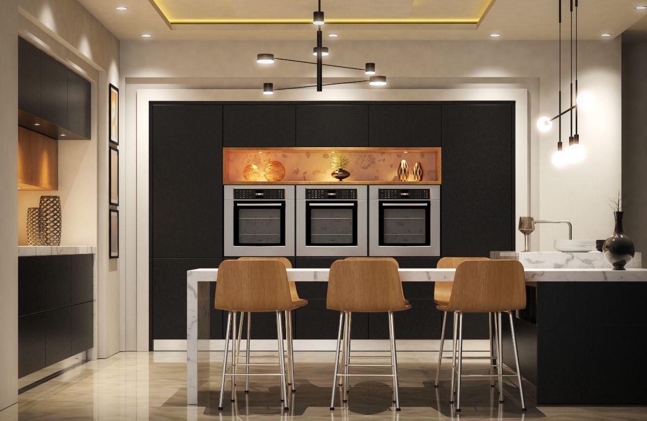 Modern Kitchen 3D Model - FlatPyramid on Modern:8-Rtxafges8= Model Kitchen  id=23940