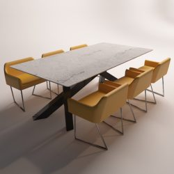 modern dinning table 3 3d model max obj 296561