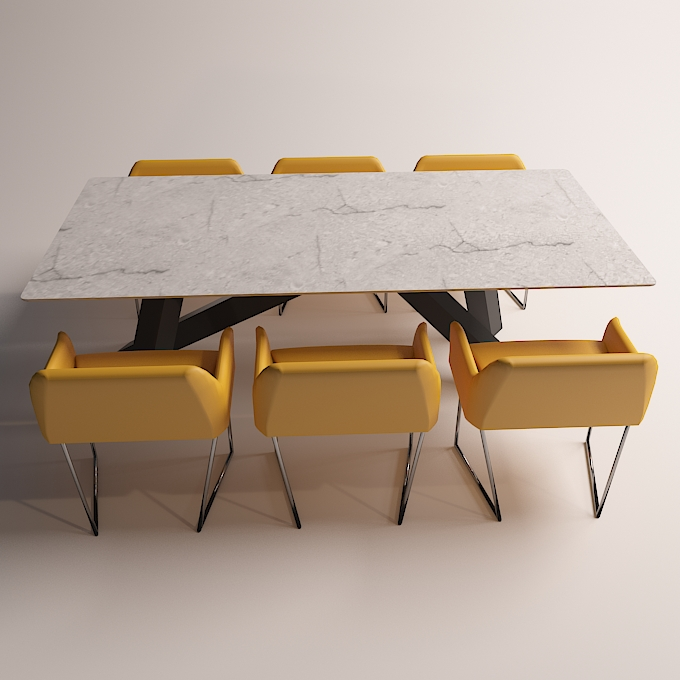modern dinning table 3 3d model max obj 296562