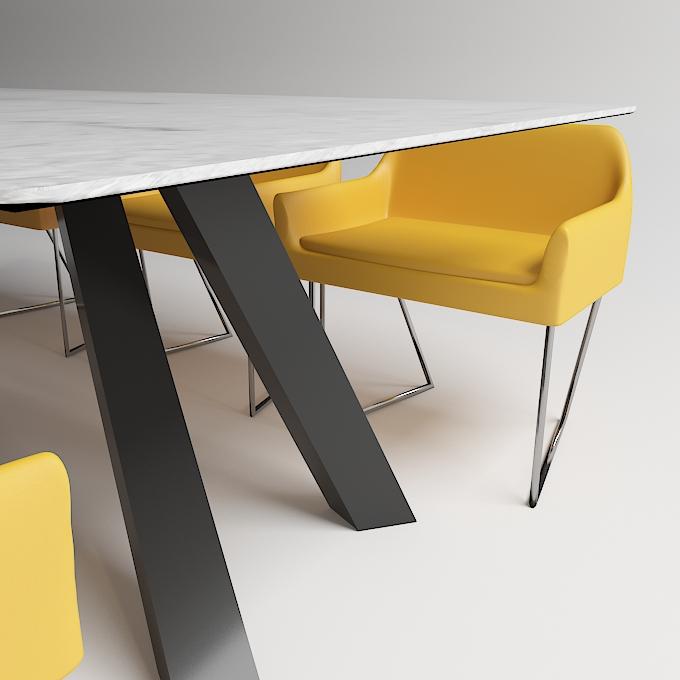 modern dinning table 3 3d model max obj 296564