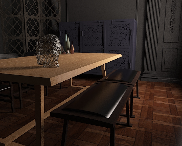dinning table 4 3d model max obj 296589