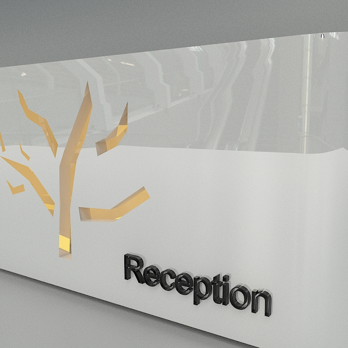 reception 6 3d model max obj 296598