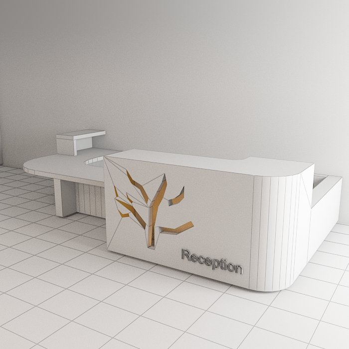 reception 6 3d model max obj 296602
