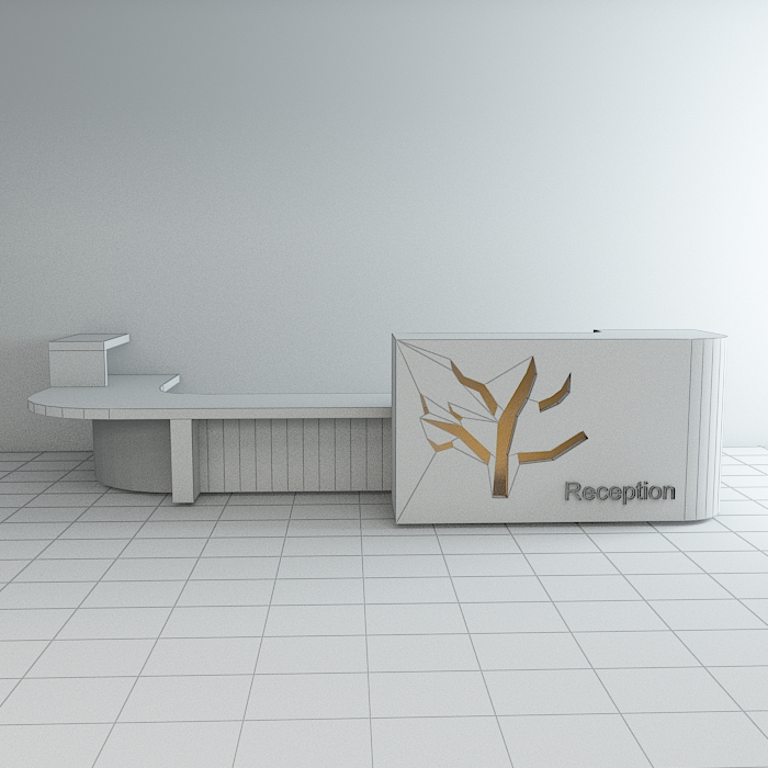 reception 6 3d model max obj 296603