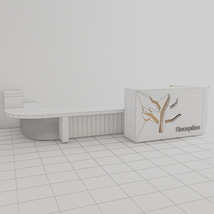 reception 6 3d model max obj 296604