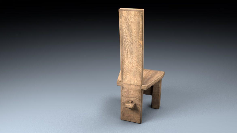 medieval table, bench, chair set 3d model 3ds fbx c4d obj 296635