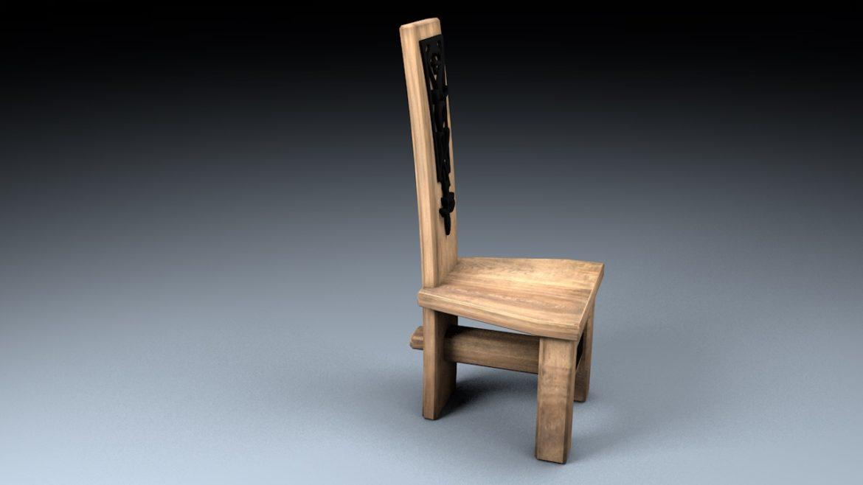 medieval table, bench, chair set 3d model 3ds fbx c4d obj 296636