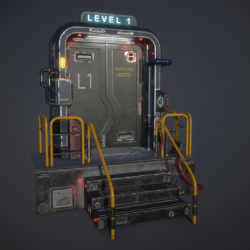 sci-fi door for ue 3d model fbx 296679