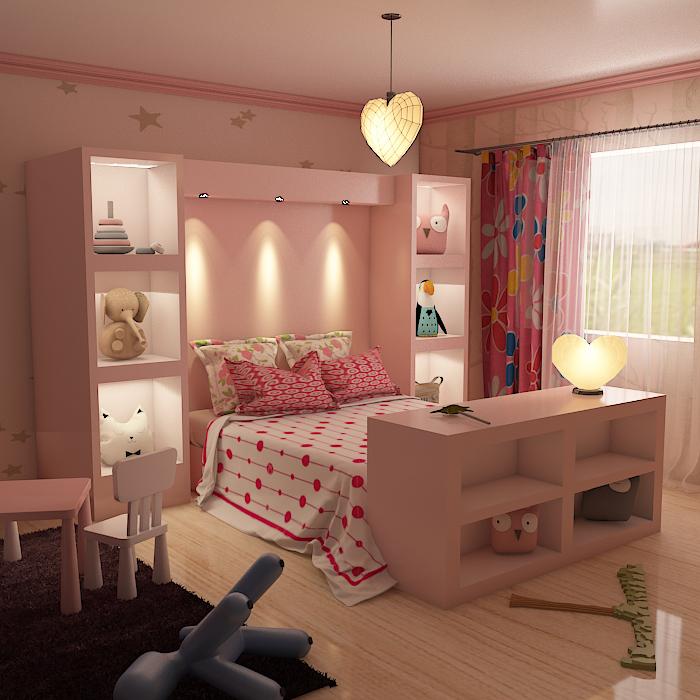 kids room 9 3d model max obj 296710