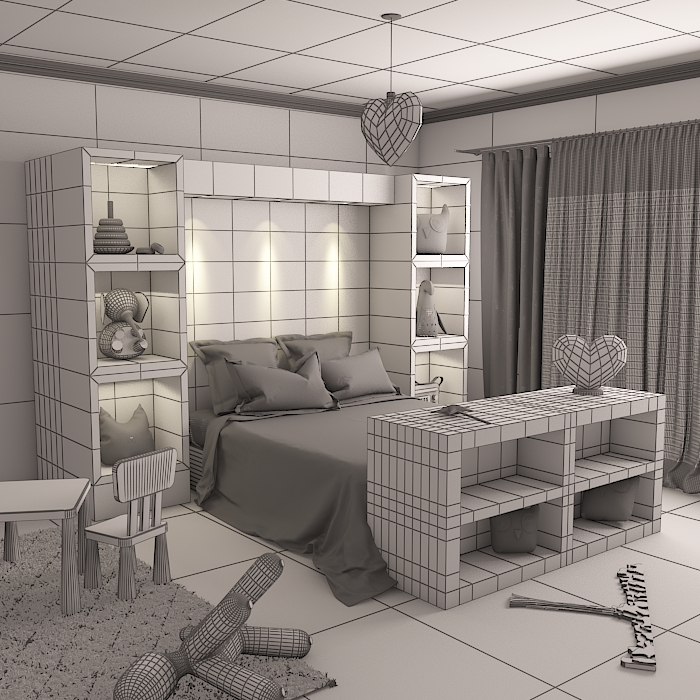 kids room 9 3d model max obj 296714