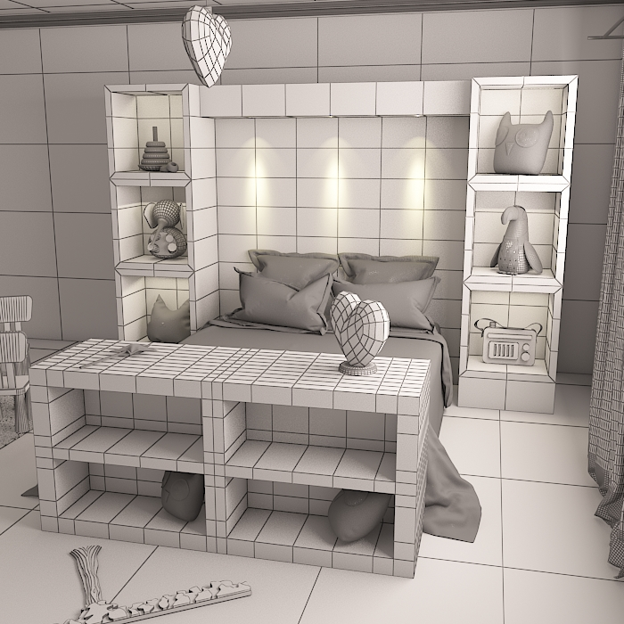 kids room 9 3d model max obj 296715