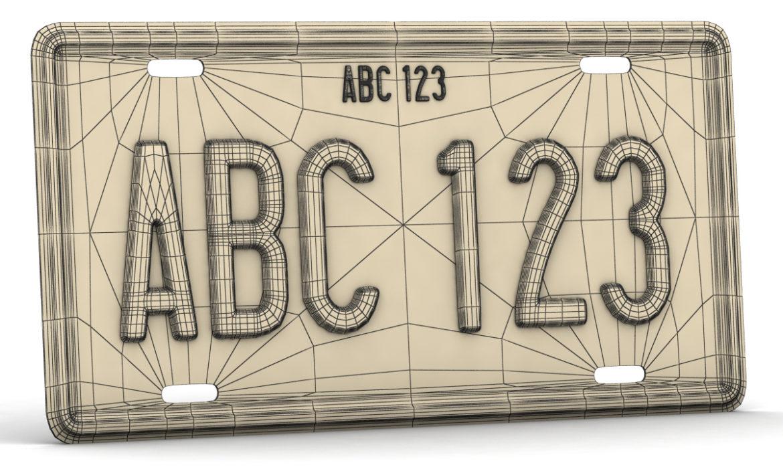 car license plate 3d model 3ds max fbx obj 296824