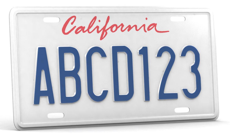 car license plate 3d model 3ds max fbx obj 296827