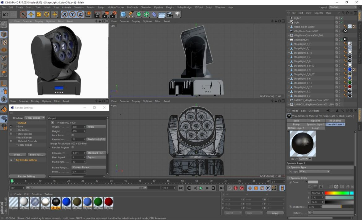 stage lighting collection (14 pieces) 3d model 3ds max dxf fbx c4d dae  obj 296883
