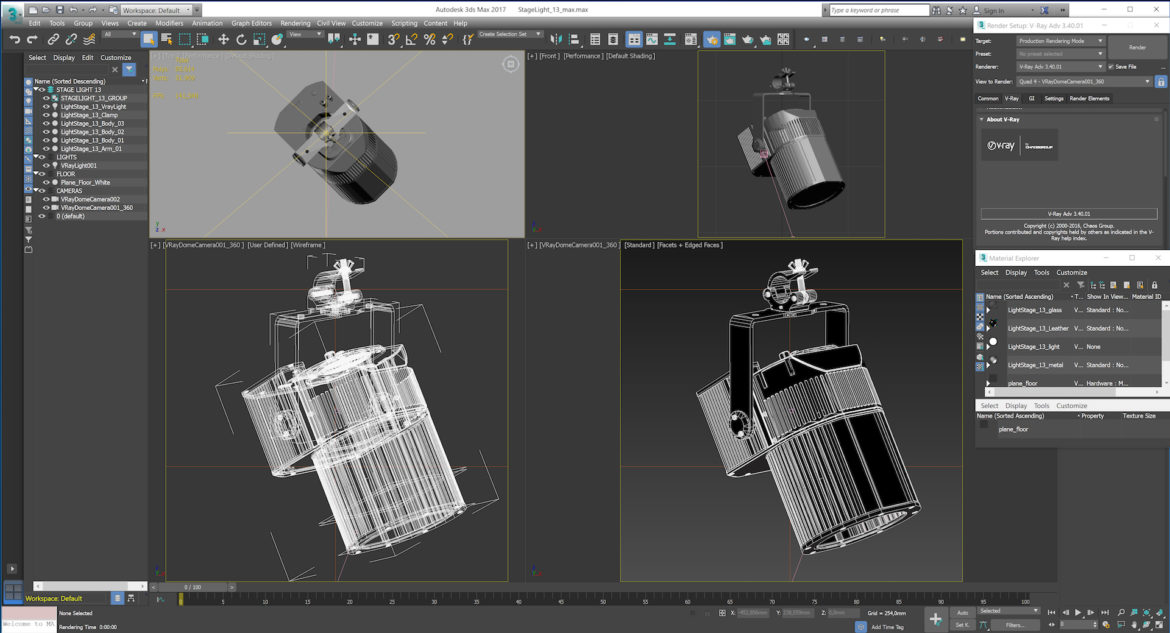 stage lighting collection (14 pieces) 3d model 3ds max dxf fbx c4d dae  obj 296993
