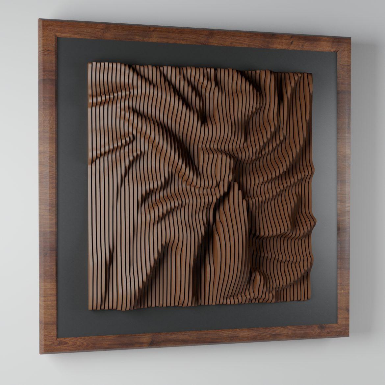 modern plywood frame-34 3d model max obj 297064