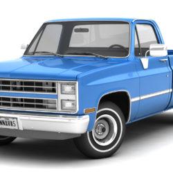 generic 2wd pickup truck 1 3d model 3ds max fbx obj 297350