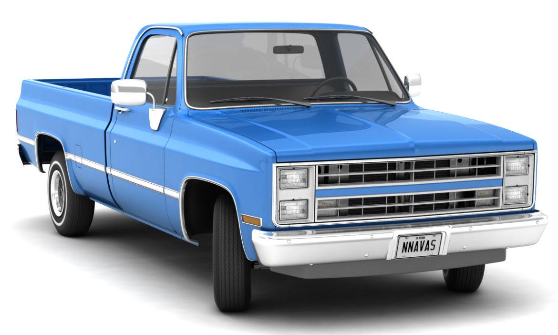 generic 2wd pickup truck 1 3d model 3ds max fbx obj 297352