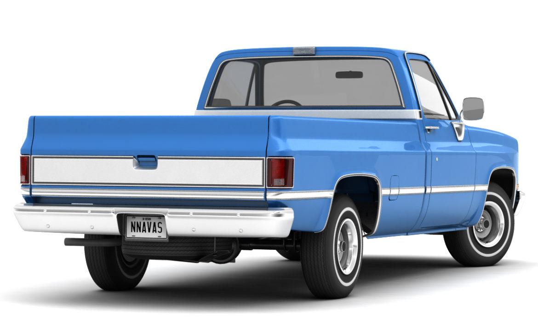 generic 2wd pickup truck 1 3d model 3ds max fbx obj 297353