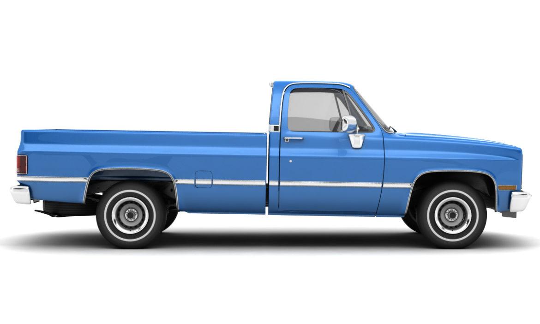 generic 2wd pickup truck 1 3d model 3ds max fbx obj 297360