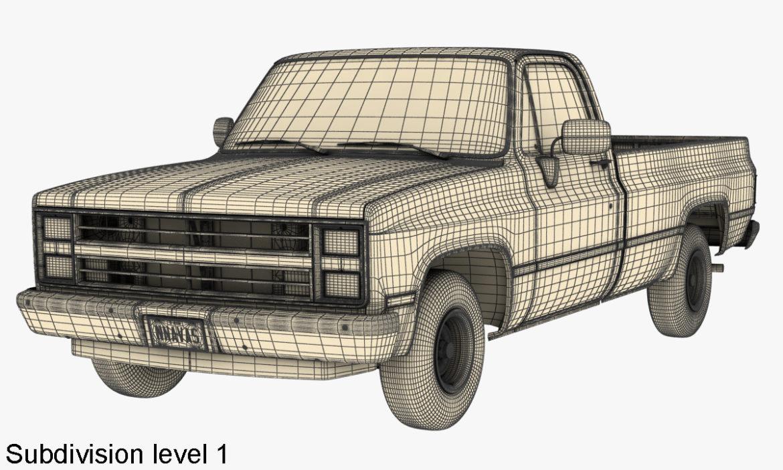 generic 2wd pickup truck 1 3d model 3ds max fbx obj 297362