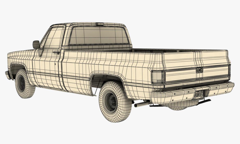 generic 2wd pickup truck 1 3d model 3ds max fbx obj 297364