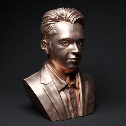 rožu zelta cilvēka skulptūra -39 3d modelis max obj 297486