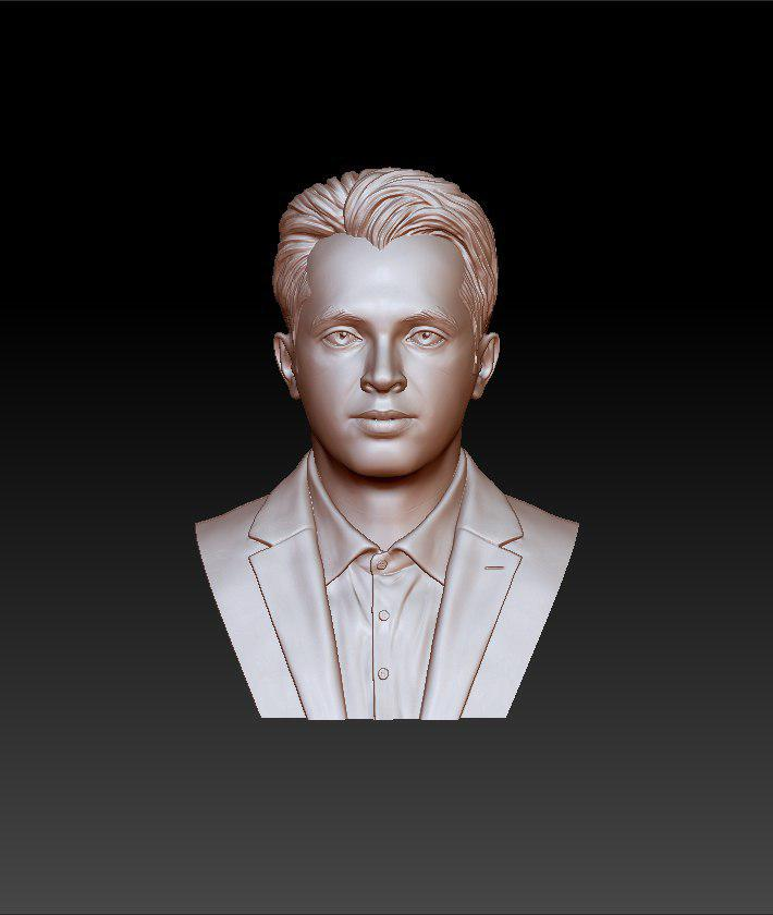 rose gold man sculpture -39 3d model max obj 297487